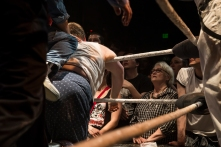 "Audience members experienced a marriage of rock and roll and wrestling during ""Hoodslam"" on March 6, 2015. The monthly event is held in Oakland, Calif. (Randy Vazquez)"
