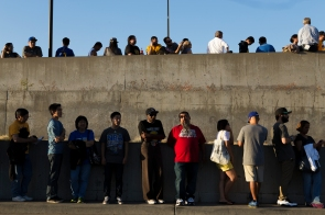 Golden State Warriors fans line up hours prior to the start of their team's preseason opening match versus the Toronto Raptors on Oct. 5, 2015 at SAP Center in San Jose, Calif. Randy Vazquez, Spartan Daily