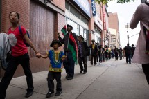 """Supporters of all ages showed up during """"Shut'em Down"""" Black Power March in Harlem, N.Y. on May 19, 2016. (Randy Vazquez)"""