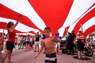 Thousands of people took part in the July 4th Celebration at Delray Beach on Monday.The event featured live music, family activities, and competitive eating. Randy Vazquez, Sun Sentinel
