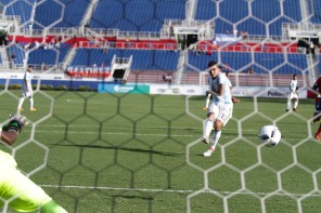 Angel Correa of Argentina scores his teams second goal of the afternoon via penalty kick during a friendly versus Haiti at Florida Atlantic University Stadium on Sunday, July 24, 2016. Argentina would go on to win 3-1. Randy Vazquez, Sun Sentinel