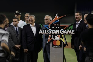 The Miami Marlins unveiled the logo for the 2017 MLB All-Star Game on Wednesday, July 26, 2016. The Marlins would go on to win the game 11-1 over the Phillies .Randy Vazquez, Sun Sentinel