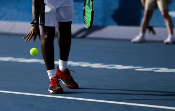 Donald Young prepares to serve to Ivo Karlović during their match at the Delray Beach Open at the Delray Beach Tennis Center on Tuesday, Feb. 21, 2017. Randy Vazquez, South Florida Sun-Sentinel