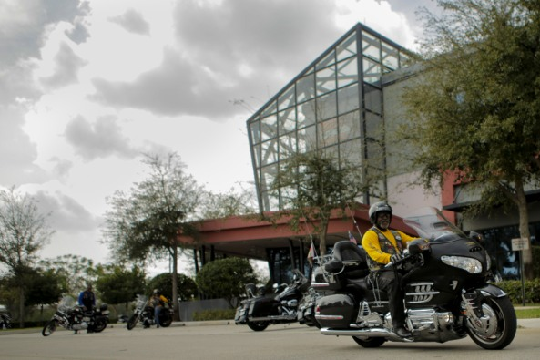 Members of the Buffalo Soldiers Motorcycle Club Miami Chapter volunteer in the community, discuss history, and ride their bikes all over the country. The group is named after the black soldiers in the US Army's 9th and 10th Calvary units that fought against Native Americans on the western frontier after the Civil War. The members meet once a month to discuss topics related to the club and make history personations. Alvin Forbes rides away after the clubs monthly meeting on Saturday in Sunrise. Randy Vazquez, South Florida Sun-Sentinel
