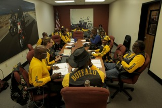 Members of the Buffalo Soldiers Motorcycle Club Miami Chapter volunteer in the community, discuss history, and ride their bikes all over the country. The group is named after the black soldiers in the US Army's 9th and 10th Calvary units that fought against Native Americans on the western frontier after the Civil War. The members meet once a month to discuss topics related to the club and make history personations. Randy Vazquez, South Florida Sun-Sentinel