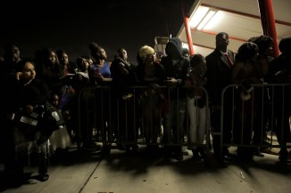 Friends and family wait for students to come out of the Lake Worth Community High School graduation at the Expo Center in the South Florida Fairgrounds in West Palm Beach on Friday, May 19, 2017. Randy Vazquez South Florida Sun-Sentinel