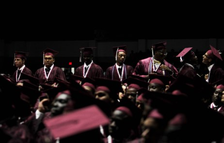 Students go back to their seats after receiving their diplomas during the Lake Worth Community High School graduation at the Expo Center in the South Florida Fairgrounds in West Palm Beach on Friday, May 19, 2017. Randy Vazquez South Florida Sun-Sentinel