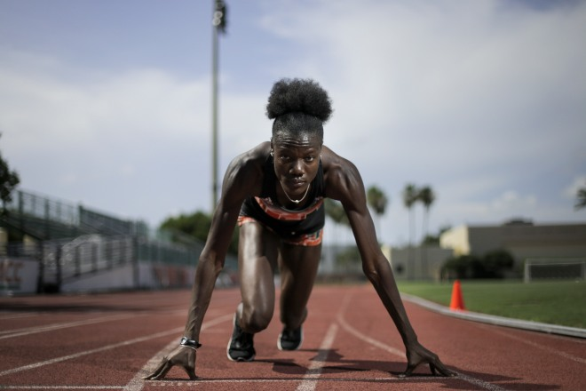A portrait of Fort Lauderdale native Shakima Wimbley on Tuesday, May 30, 2017 in Coral Gables. Wimbley runs for the University of Miami track team and will be competing in nationals next week. Randy Vazquez, South Florida Sun-Sentinel