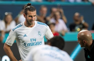 Gareth Bale smiles prior to the Real Madrid versus Barcelona game at Hard Rock Stadium on Saturday, July 29, 2017. Randy Vazquez, South Florida Sun-Sentinel