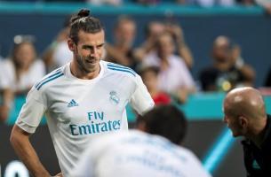 Gareth Bale smiles prior to the Real Madrid versus Barcelona game at Hard Rock Stadium on Saturday, July 29, 2017. Randy Vazquez, South Florida Sun-Sentinel