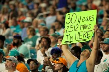 Fans enjoy the game between the Miami Dolphins and the Baltimore Ravens on Thursday, Aug. 17, 2017. Randy Vazquez, South Florida Sun-Sentinel
