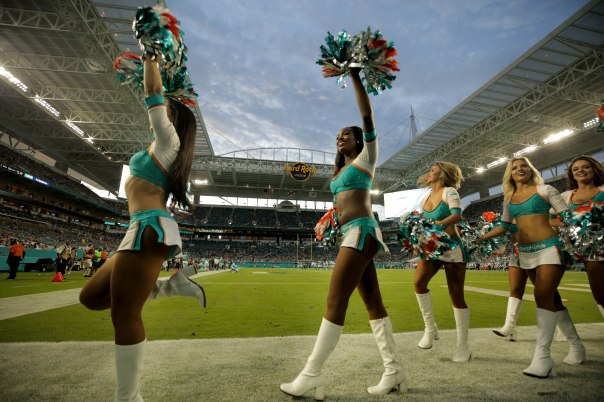 Miami Dolphins cheerleaders during the game versus the Baltimore Ravens on Thursday, Aug. 17, 2017. Randy Vazquez, South Florida Sun-Sentinel