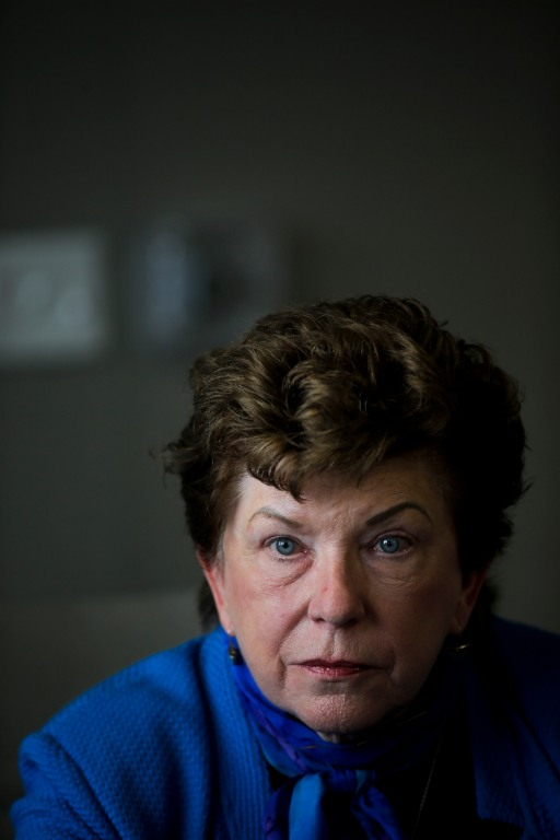 Former California Superintendent of Education Delaine Eastin talks with members of the Bay Area News Group's editorial staff in the Mercury News newsroom in San Jose, Calif., on Monday, April 9, 2018. Eastin is running for Governor of California. (Randy Vazquez/ Bay Area News Group)