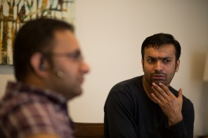 Muhammad Umair Siddique, left, and Muhammad Shakeel Naqvi, right, in their home in Menlo Park, Calif., on Tuesday, July 17, 2018. The two men rent a rooms in a home owned by their employer Zareen Khan, owner of Zareen's Restaurant. Khan offers below-market rent to four of her key, full time employees. It's a unique way for a small business to keep its employees. (Randy Vazquez/ Bay Area News Group)