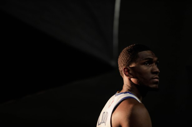 Kevon Looney poses for a picture during Golden State Warriors Media Day in Oakland, Calif., on Monday, Sep. 24, 2018. (Randy Vazquez/Bay Area News Group)