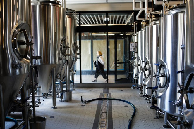 The brewery behind San Francisco Brewing Co., in San Francisco on Thursday, Oct. 18, 2018. (Randy Vazquez/Bay Area News Group)