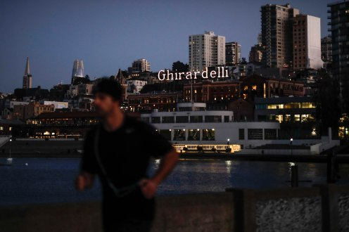 Ghirardelli Square and the San Francisco skyline on Thursday, Oct. 18, 2018. (Randy Vazquez/Bay Area News Group)