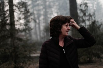 Mayor Jody Jones looks at her property in Paradise, Calif., on Wednesday, Nov. 14, 2018. Her house was burned during the Camp Fire last week. (Randy Vazquez/Bay Area News Group)