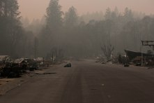 The street where Mayor Jody Jones' sister lived is photographed in Paradise, Calif., on Wednesday, Nov. 14, 2018. Jones evacuated Paradise during the Camp Fire from her sisters house. (Randy Vazquez/Bay Area News Group)