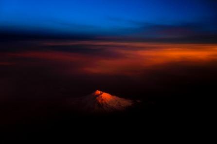 Mount Shasta is photographed at sundown on Thursday, Feb. 8, 2018. (Randy Vazquez)