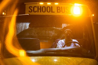 Bus driver Tim McGinnis, starts his bus up at the San Jose Unified School District bus yard in San Jose, Calif., on Thursday, Feb. 28, 2019. (Randy Vazquez/Bay Area News Group)