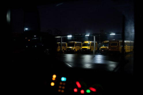 School buses are photographed at the San Jose Unified School District bus yard in San Jose, Calif., on Thursday, Feb. 28, 2019. (Randy Vazquez/Bay Area News Group)