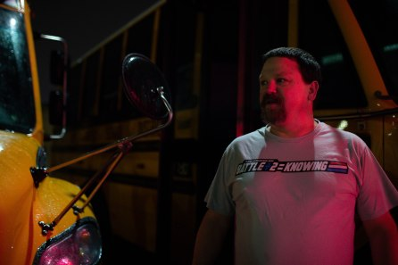 Bus driver Tim McGinnis, is photographed outside of his bus at the San Jose Unified School District bus yard in San Jose, Calif., on Thursday, Feb. 28, 2019. (Randy Vazquez/Bay Area News Group)