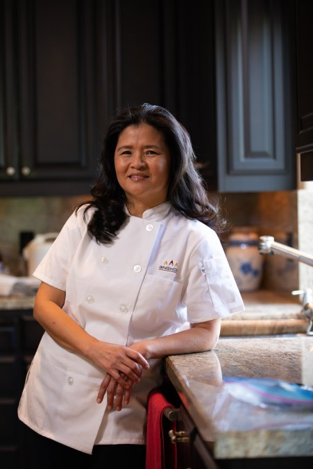 Channy Laux is photographed in her home in Fremont, Calif., on Thursday, Feb. 7, 2019. Laux is a chef and founder of Angkor Cambodian Foods, which specializes in sauces and condiments used in Cambodian cuisine. Randy Vazquez/Bay Area News Group)