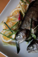 Grilled trout it photographed at Channy Laux's home in Fremont, Calif., on Thursday, Feb. 7, 2019. Laux is a chef and founder of Angkor Cambodian Foods, which specializes in sauces and condiments used in Cambodian cuisine. Randy Vazquez/Bay Area News Group)